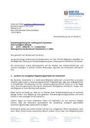 BdV-Stellungnahme Schadensregulierung - Bund der Versicherten ...