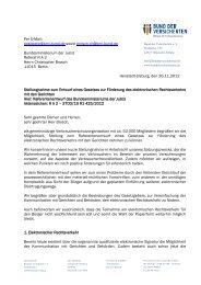 Per E-Mail: poststelle@bmj.bund.de sowie brosch-ch@bmj.bund.de ...