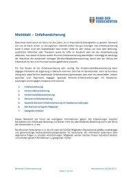 Merkblatt – Unfallversicherung - Bund der Versicherten e.V.