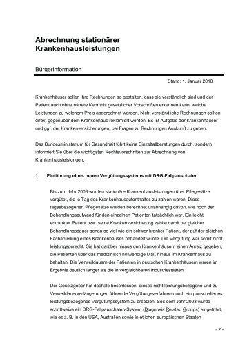 Abrechnung Stationärer Krankenhausleistungen : bag abrechnung ~ Themetempest.com Abrechnung