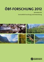 Forschungsbericht 2012 - Österreichische Bundesforste AG