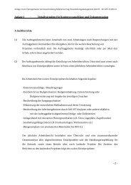Anlage 3 - Detailvorgaben für Kostenvoranschläge und ...
