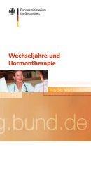Wechseljahre und Hormontherapie - Bundesministerium für ...