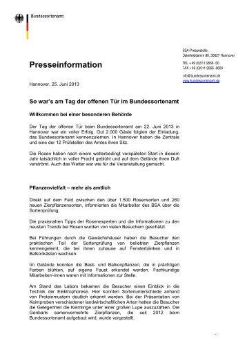Presseinformation - Bundessortenamt