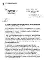 Pressemitteilung Nr. 06/2011 - Bundesversicherungsamt