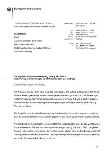 Verträge der Hilfsmittelversorgung nach § 127 SGB V
