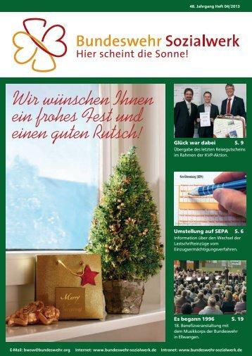 Aktion Sorgenkinder in Bundeswehrfamilien des BwSW