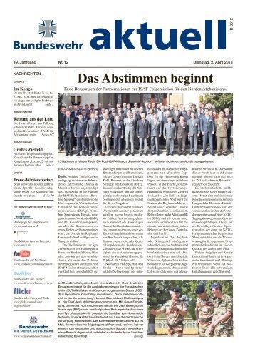 Das Abstimmen beginnt - Bundeswehr