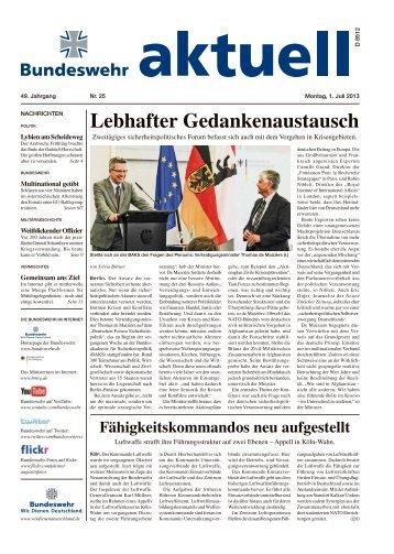 Lebhafter Gedankenaustausch - Bundeswehr