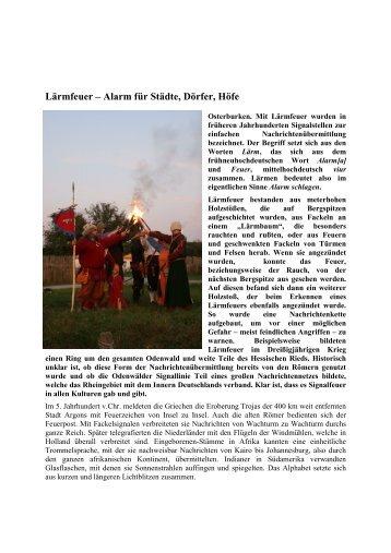Laermfeuer_ Karfunkel - Burg Assum