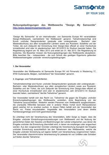 Teilnahmebedingungen (PDF)