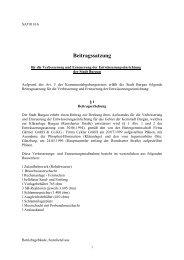 Beitragssatzung für die Verbesserung und ... - Stadt Burgau