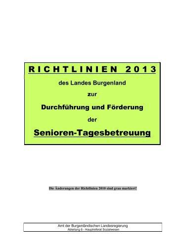 Richtlinien 2013 zur Durchführung und Förderung ... - Burgenland.at