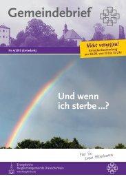 Und wenn ich sterbe …? - Evangelische Burgkirchengemeinde ...