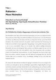 Kakanien - Neue Heimaten: Maja Haderlap - Burgtheater