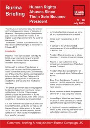 to read our new briefing. - Burma Campaign UK