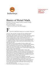 Basics of Retail Math,