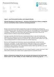 Pressemitteilung - Busch-Jaeger Elektro GmbH