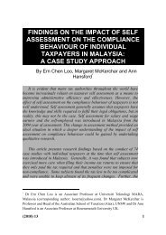 findings on the impact of self assessment on the compliance
