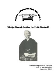 Wichtige Momente im Leben von Gichin Funakoshi