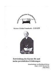 Entwicklung des Karate-Do und meine persönlichen Erfahrungen