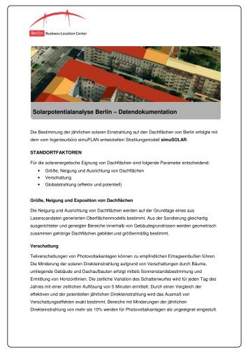 Datendokumentation - Berlin Business Location Center