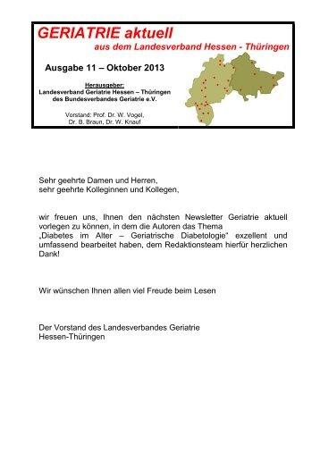 GERIATRIE aktuell Nr 11 Oktober 2013 (Rohfassung) UMSCHLAG