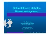 Zielkonflikte im globalen Wassermanagement