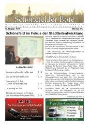 Schönefelder Bote - Bürgerverein Schönefeld eV