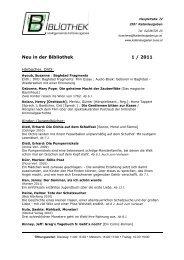 Neu in der Bibliothek 1/2009
