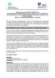 Stellungnahme der Verbände HDE/BVT zum Kabinettsentwurf der ...