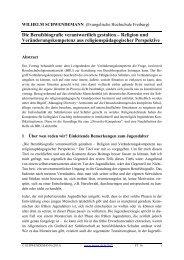 Die Berufsbiografie verantwortlich gestalten – Religion und ...