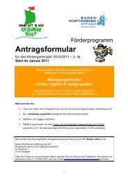 Antrag BeMo Start 10-11_2.Hj_Start Januar 11 - Baden ...