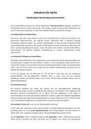 Nachhaltige Entwicklungszusammenarbeit - Bericht August 2013