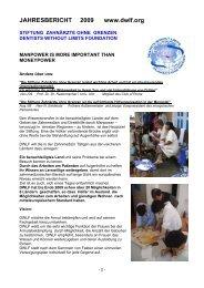 Stiftung Zahnärzte ohne Grenzen