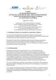 Leitsätze zur zahnärztlichen Fortbildung (KZBV, BZÄK und DGZMK)