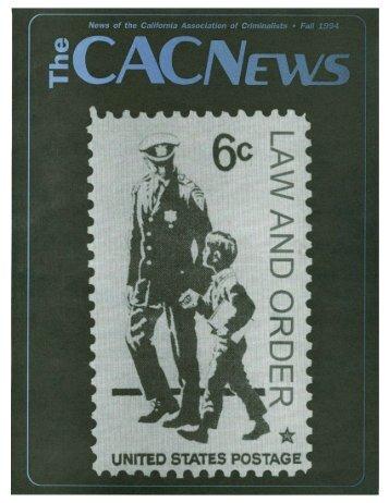 Fall 1994 - California Association of Criminalists