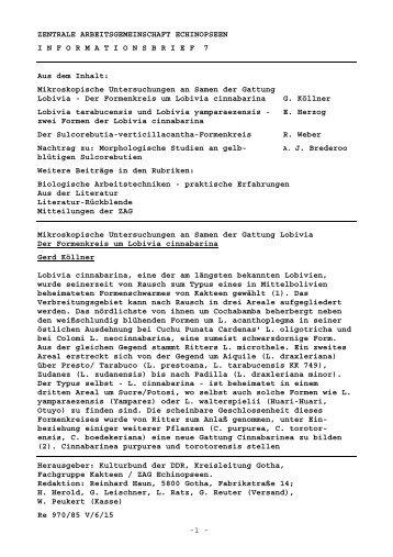 -1 - ZENTRALE ARBEITSGEMEINSCHAFT ECHINOPSEEN ...