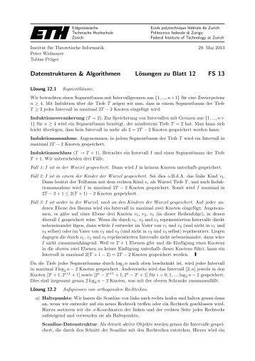 Datenstrukturen & Algorithmen Blatt 13 FS 09 - Cadmo