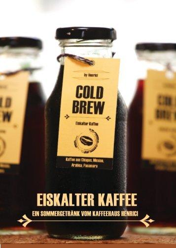EISKALTER KAFFEE - Café Henrici