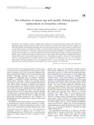 The influence of queen age and quality during queen replacement in