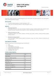 HDAX 5100 Ashless Gas Engine Oil - Caltex