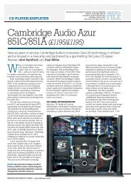 Frankly, the feature set of the 851C and 851A is ... - Cambridge Audio