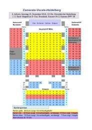 Karten für das Konzert 'Magnificat - Camerata Vocale Heidelberg