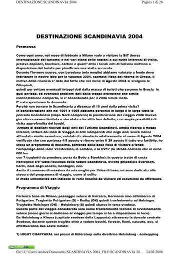 DESTINAZIONE SCANDINAVIA 2004 - Camper