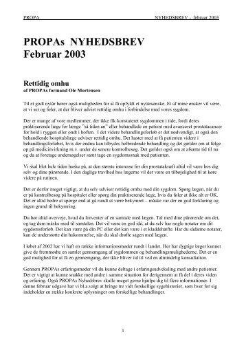 Februar 2003 - Kræftens Bekæmpelse