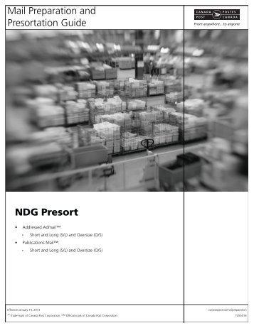 Mail Preparation and Presortation Guide NDG Presort