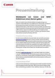 Herunterladen Pressemitteilung [PDF, 63 KB] - Canon