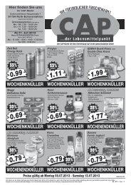 WOCHENENDKNÜLLER WOCHENENDKNÜLLER - CAP Markt
