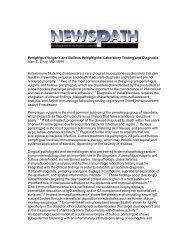 Pemphigus Vulgaris and Bullous Pemphigoid: Laboratory Testing ...
